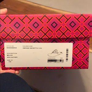 Tory Burch Miller Flip Flops Size 7.5 — Leather